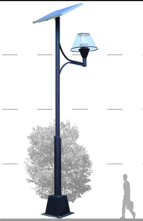 太阳能道路灯参数   高度:6-11m,灯杆热镀锌后喷塑处理   系统电